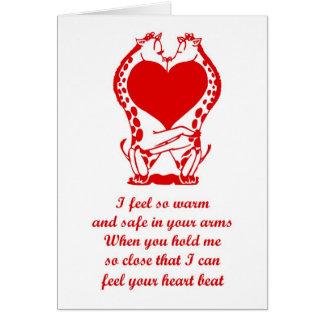 St. Valentine's Day Happy Valentine's Day giraffe Card