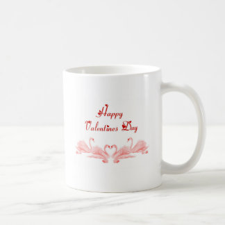 St. Valentine's Day Happy Valentine's Day swans Basic White Mug