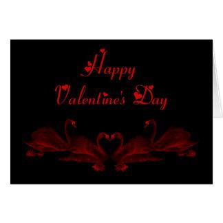 St. Valentine's Day Happy Valentine's Day swans Greeting Card