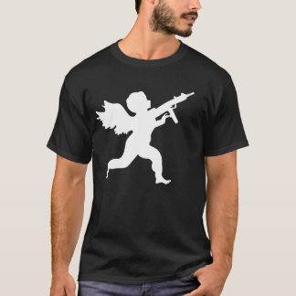 ST VALENTINE'S DAY MASSACRE RIFLE TOTING CHERUB T-Shirt