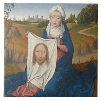 St. Veronica, c.1470-1475 (oil on panel) Large Square Tile