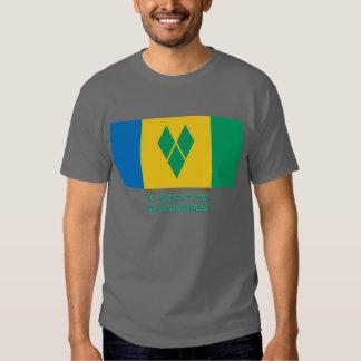 St Vincent Flagge mit Namen T Shirts