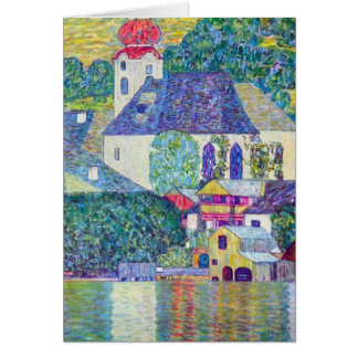 St. Wolfgang Church by Gustav Klimt, Victorian Art Card