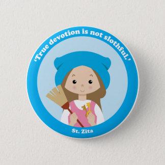 St. Zita 6 Cm Round Badge