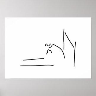 stabhochsprung leichtathletik poster