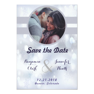 Stable Gray Stardust  Save the Date Card