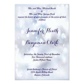 Stable Gray Stardust Wedding Invitation
