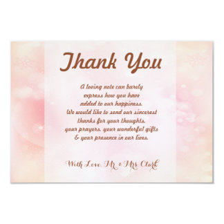 Stable Pink Orange Stardust Thank you Card