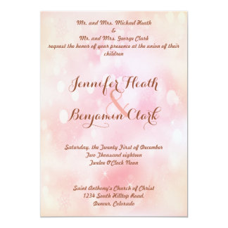 Stable Pink Orange Stardust Wedding Invitation