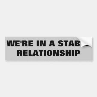 Stable Relationship / Horse Trailer Bumper Sticker