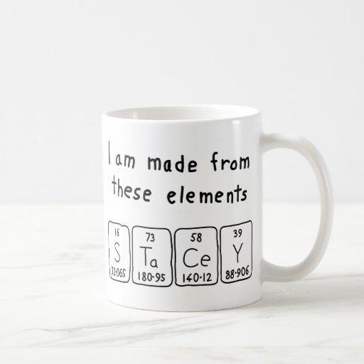 Stacey periodic table name mug