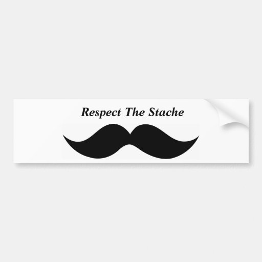 Stache bumper sticker