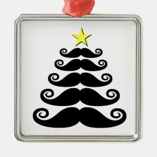 Stache-mas Tree Metal Ornament