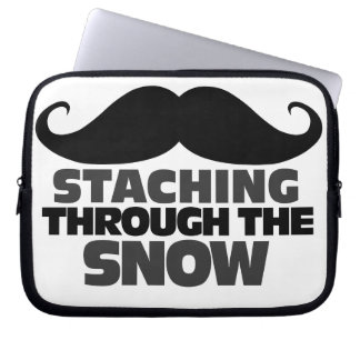 Staching through the Snow Laptop Sleeve