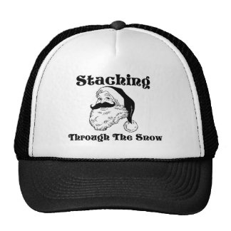 Staching Through The Snow Santa Trucker Hats