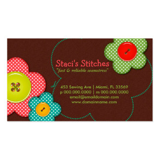 Staci's Stitches Seamstress Fashion Business Card