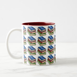 Stack Books Book Lover Teacher Librarian Gift Mug