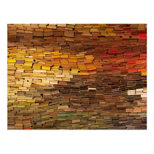 Stack of Books Calendar Postcard