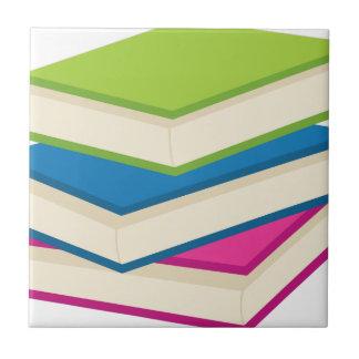 Stack of Books Ceramic Tile