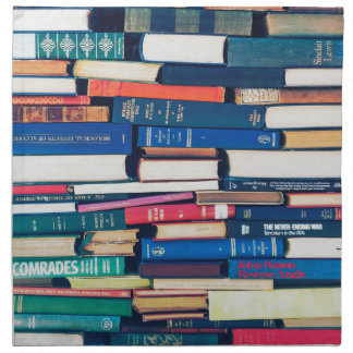 Stack of books cloth napkins