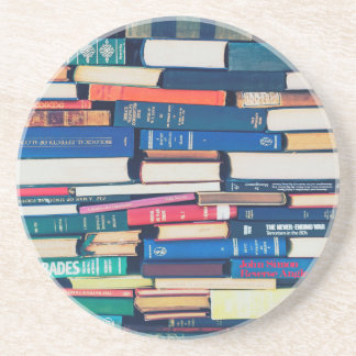 Stack of books coaster