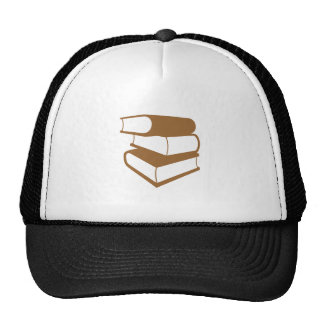 Stack Of Brown Books Hat