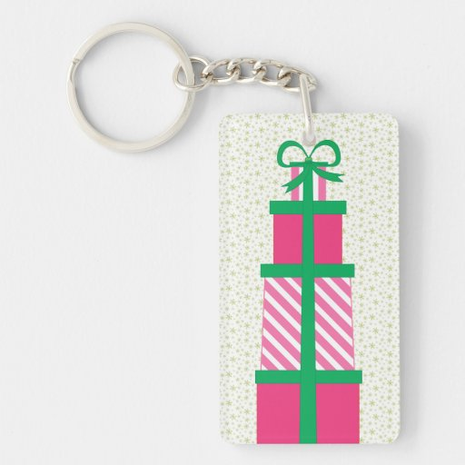 Stack of Christmas Presents Acrylic Key Chains