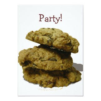 "Stack of Cookies Cookie Lovers 5"" X 7"" Invitation Card"