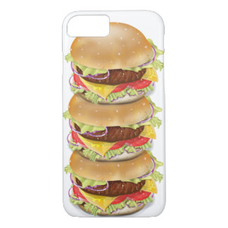 Stack of hamburgers or cheeseburgers iPhone 7 case