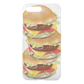Stack of hamburgers or cheeseburgers iPhone 7 plus case