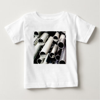stack of metal tubes baby T-Shirt