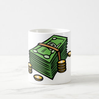 Stack of Notes and Coins Mug