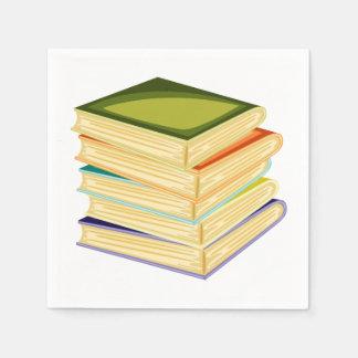 Stack Of School Books Paper Napkins Paper Napkin