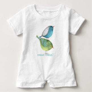 Stacked Birds Baby One Piece Romper Baby Bodysuit