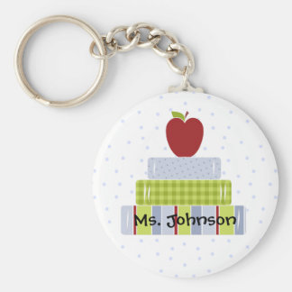 Stacked Books Teacher's Key Chain