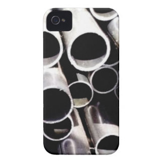 stacked circles of steel iPhone 4 Case-Mate cases