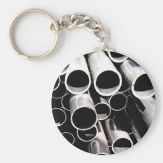 stacked circles of steel key ring