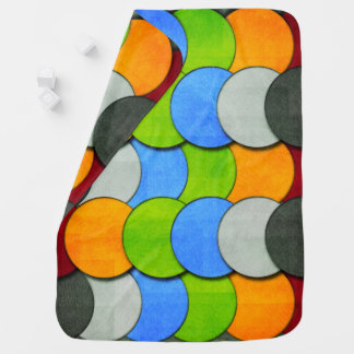 Stacked Circles-Textured by Shirley Taylor Baby Blanket