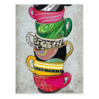 Stacked Coffee Cup Postcard