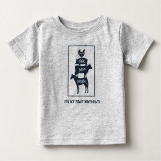 Stacked Farm Animals Personalised Birthday Baby T-Shirt