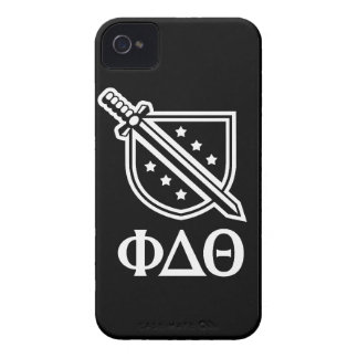 Stacked Logo and Letters - White 2 iPhone 4 Cover