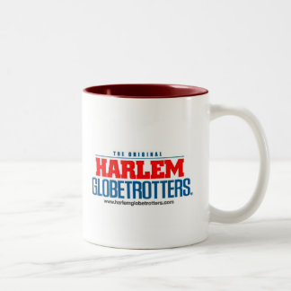 stacked logo color with web site Two-Tone coffee mug
