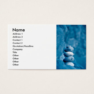 Stacked pebbles business card