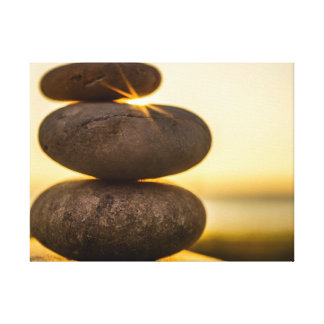 Stacked pebbles canvas print