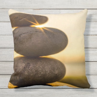 Stacked pebbles outdoor cushion