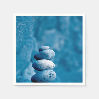 Stacked pebbles paper napkin