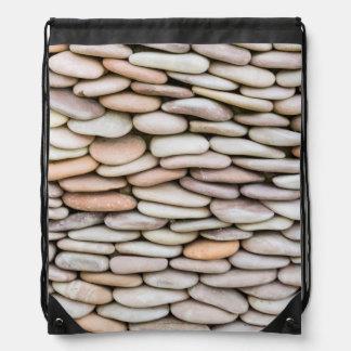 Stacked Rock Pattern | Washington, USA Drawstring Bag