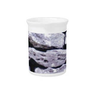 stacked rock wall pitcher