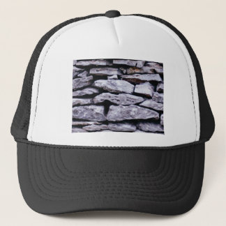 stacked rock wall trucker hat