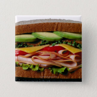 Stacked sandwich 15 cm square badge